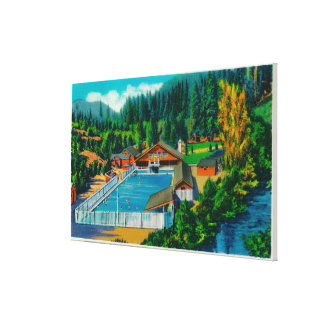 Mammoth Pool at Sol Duc Hot Springs Canvas Print