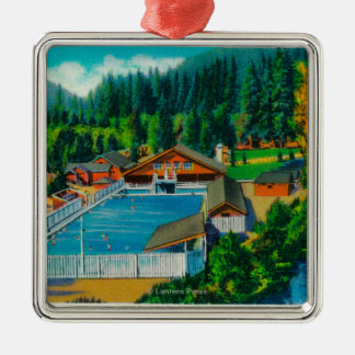 Mammoth Pool at Sol Duc Hot Springs Christmas Ornament