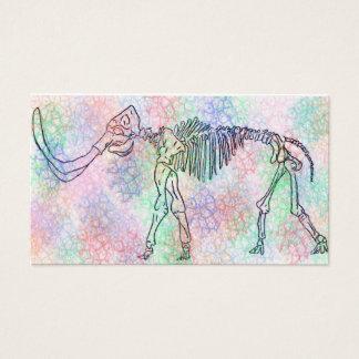 Mammoth skeleton watercolour
