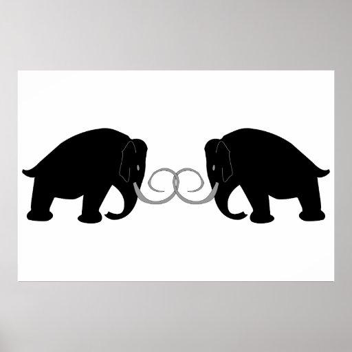 Mammoths Birthday Print