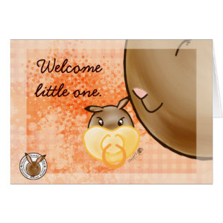 Mammy Round Rabbit-little one Greeting Card