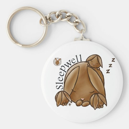 Mammy Round Rabbit-Sleepwell-Keychains Basic Round Button Key Ring