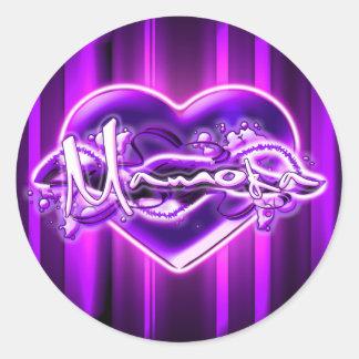 Mamoka Round Sticker