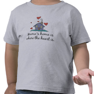 Mamo's Home is Where the Heart is Tshirts