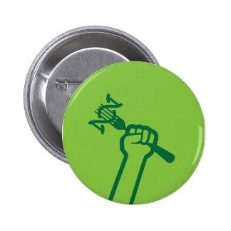 MAMyths Fist 2¼ Inch Round Button