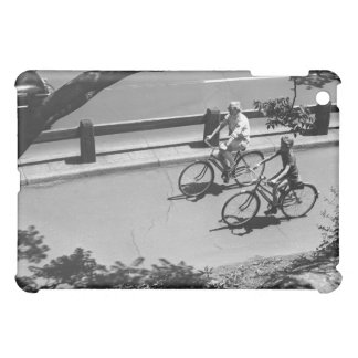 Man and Boy Cycling iPad Mini Covers