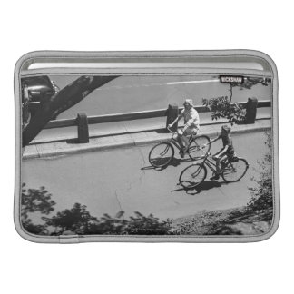 Man and Boy Cycling MacBook Sleeve