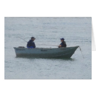 Man and Boy Fishing Greeting Cards