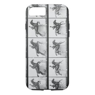 Man and horse jumping a fence, plate 640 from 'Ani iPhone 8/7 Case