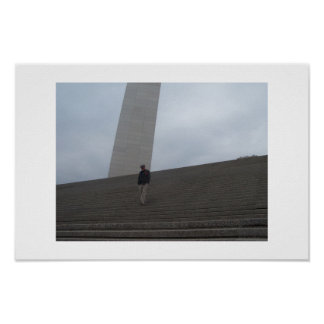 Man and the Arch Poster