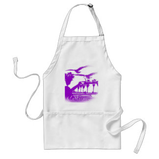 Man and the Birds-Purple-Round Standard Apron