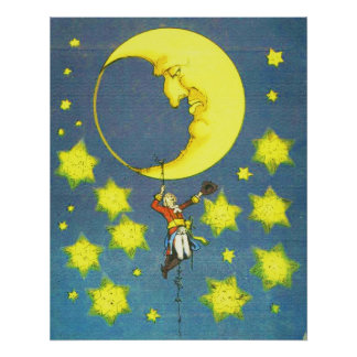 Man and the Moon Poster