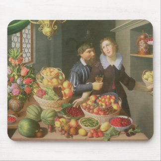 Man and Woman Before a Table Mouse Mat