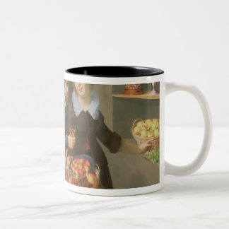 Man and Woman Before a Table Two-Tone Coffee Mug