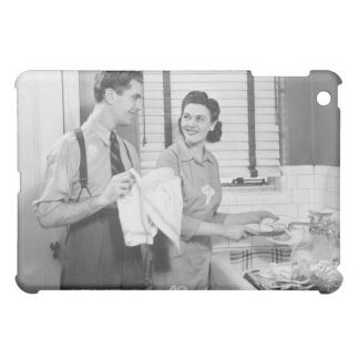 Man and Woman Doing Dishes iPad Mini Cover