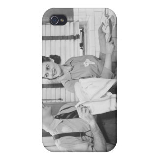 Man and Woman Doing Dishes iPhone 4/4S Case
