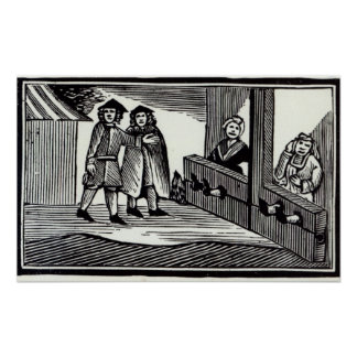 Man and Woman in the Stocks Poster