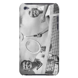 Man and Woman Playing Tennis Barely There iPod Case