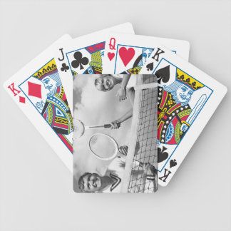 Man and Woman Playing Tennis Bicycle Playing Cards