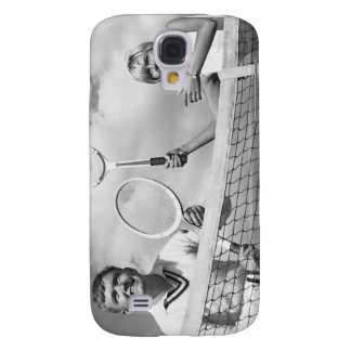 Man and Woman Playing Tennis Galaxy S4 Case