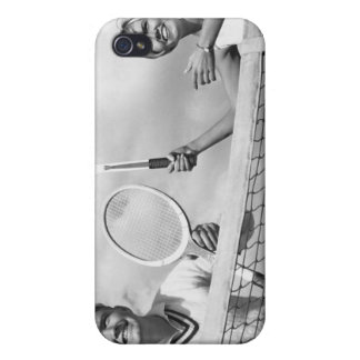 Man and Woman Playing Tennis iPhone 4 Cover