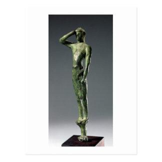 Man at prayer, Archaic Greek bronze sculpture some Postcard