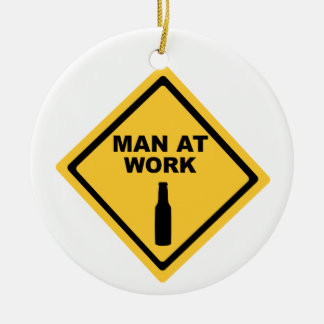 Man at Work Christmas Ornament