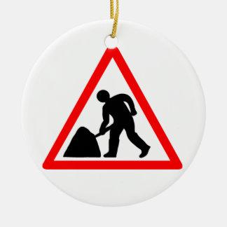 Man at Work Symbol Christmas Ornament