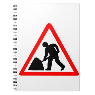 Man at Work Symbol Notebook