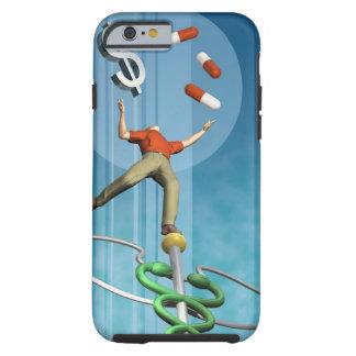 Man balancing drugs and dollar sign tough iPhone 6 case
