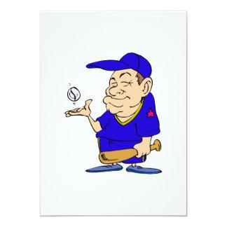 Man bat & Ball 13 Cm X 18 Cm Invitation Card