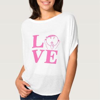 Man Be Quiet Bella Shirt hot pink L.O.V.E –Women's