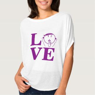 Man Be Quiet Bella Shirt purple L.O.V.E – Women's