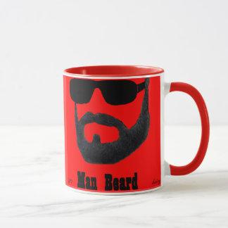 Man Beard Ringer Mug by da'vy
