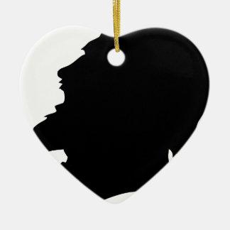 man bearded christmas ornament