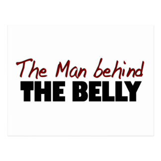 Man Behind The Belly Post Cards