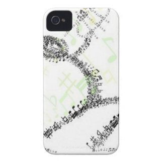 Man blowing Trumpet designed using musical notes iPhone 4 Cases