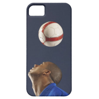 Man bouncing soccer ball on his head 2 iPhone 5 cover