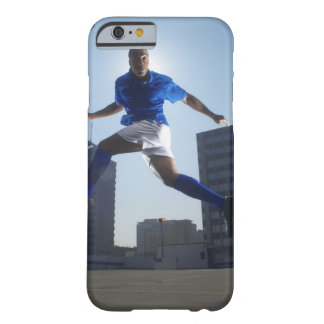 Man bouncing soccer ball on his head barely there iPhone 6 case