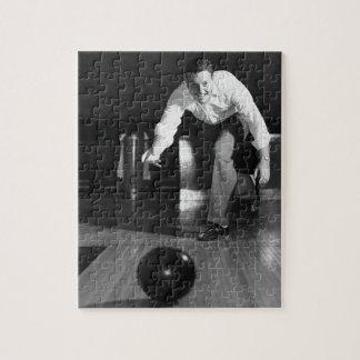 Man Bowling Jigsaw Puzzle