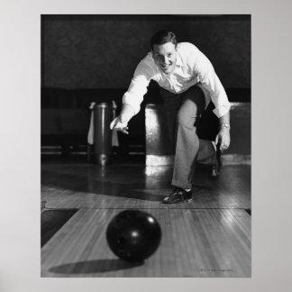 Man Bowling Print