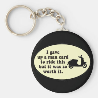 Man Card Scooter Keychain