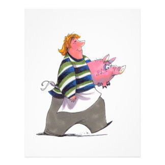 Man Carrying Pig Flyer