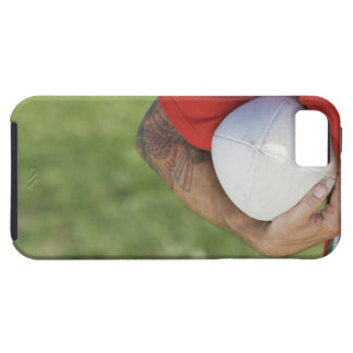 Man carrying rugby ball iPhone 5 cases