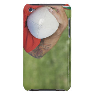 Man carrying rugby ball iPod touch cases