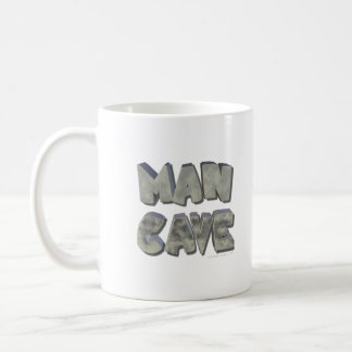 Man Cave 3D Stone Look Letters for Father or Him Coffee Mug