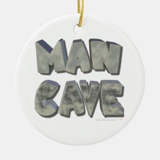 Man Cave 3D Stone Look Letters for Father or Him Round Ceramic Decoration