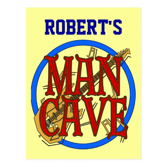 Man Cave add name Sign Postcard