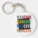 Man Cave Basic Round Button Key Ring