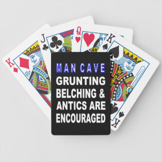 Man Cave Bicycle Playing Cards
